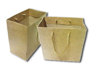 MEDIUM BROWN PLAIN PAPER BAG