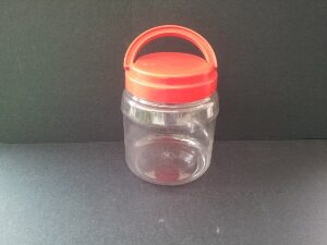 PET JAR WITH RED LID